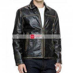 Black leather Moto Jacket On Sale